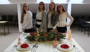 Szkolny konkurs na stół Bożonarodzeniowy