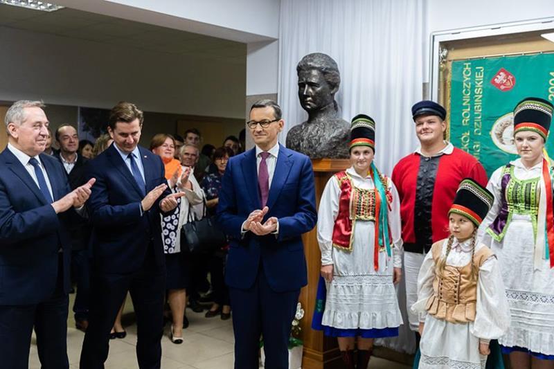 Wyjątkowe odwiedziny, Wyjątkowego Gościa Premier Mateusz Morawiecki w ZS CKR w Golądkowie
