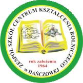 Logo Zespół Szkół Centrum Kształcenia Rolniczego w HAŃCZOWEJ